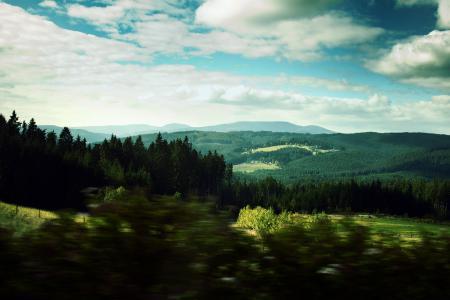 Картинки пейзажи, landscape, Вид, скорость