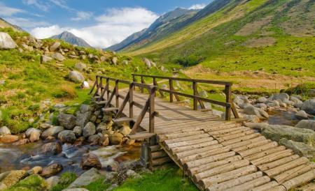 Картинки мост, переправа, ручей, камни