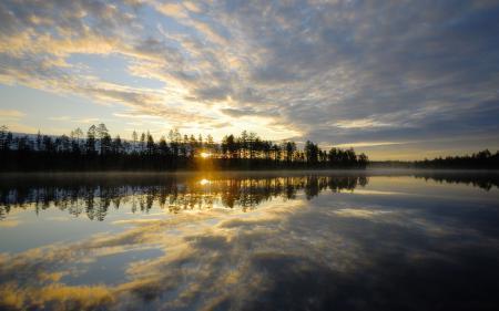 Картинки Пейзаж, природа, озеро, отражение