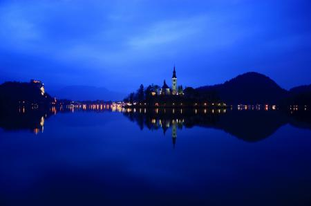 Фото Lake Bled, Slovenia, reflection, Словения
