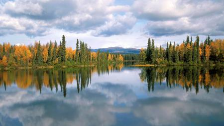 Обои Dragon lake, Yukon, Canada, озеро