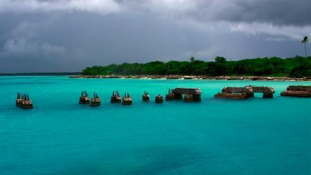 Обои саона, остров, карибы, доминикана