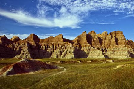 Обои горы, скалы, порода, долина