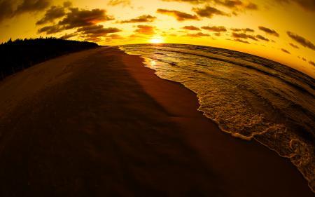 Заставки Балтийское море, закат, побережье