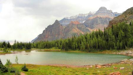Обои пейзажи, горы, вода, небо