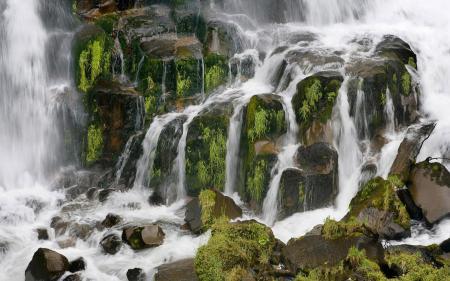 Картинки пейзажи, водопад, вода, трава