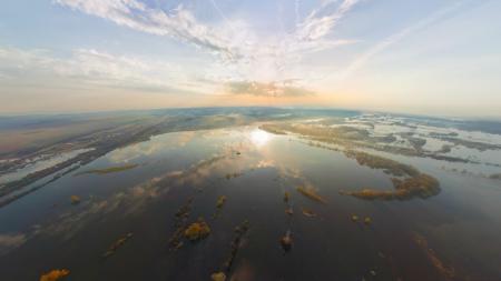 Заставки река, Клязьма, Нерль, разлив