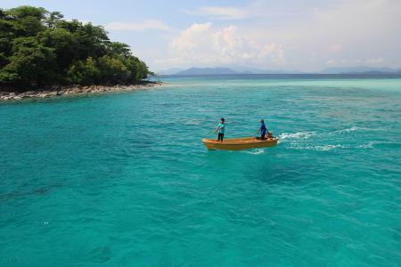 Заставки тайланд, море, остров, лодка