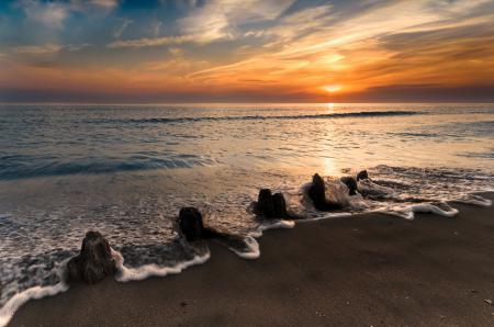 Заставки море, волна, пляж, пена