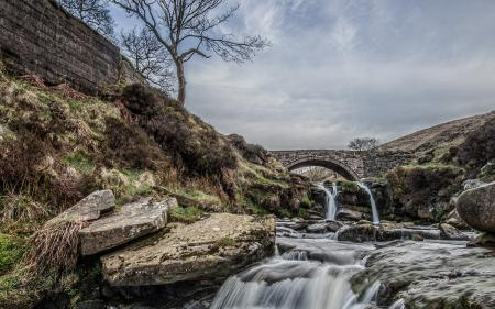 Фотографии река, мост, пейзаж