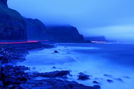 Фото ночь, горы, дорога, пейзаж