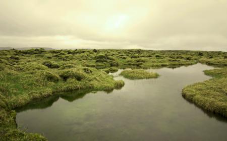 Заставки поле, река, небо, природа