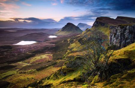 Заставки Великобритания, горы, холмы, озера