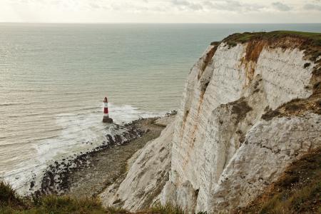 Фотографии Великобритания, Истборн, Бичи-Хед Маяк, скалы