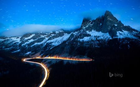 Картинки горы, лес, небо, звезды