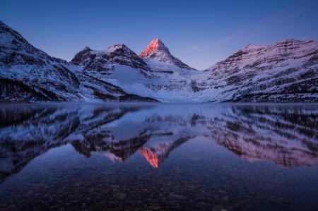 Картинки горы, снег, озеро, зима