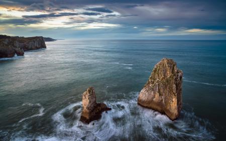 Картинки море, берег, пейзаж, скалы