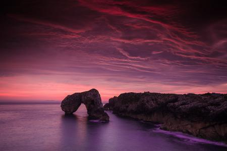 Фотографии пейзаж, рассвет, скалы, скала