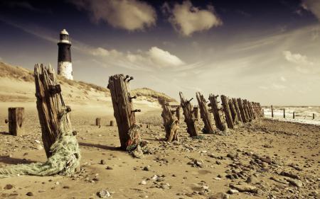 Заставки море, берег, маяк