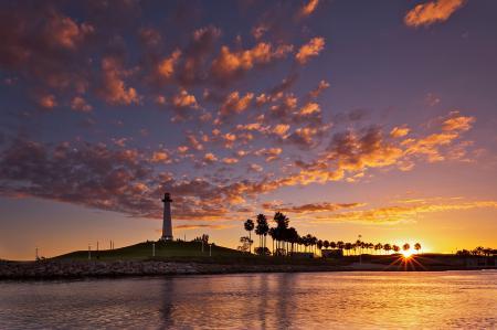 Фото California Coast, океан, маяк, берег