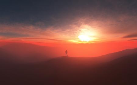 Фото splendor, человек, туман