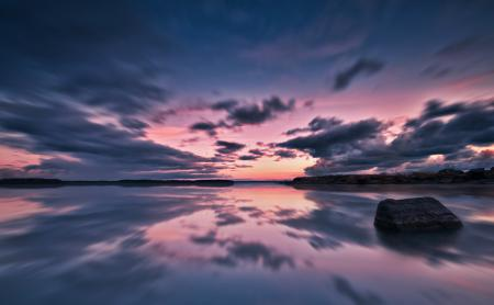 Картинки море, озеро, вода, вечер