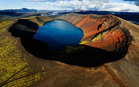 Фотографии кратер, вулкан, озеро
