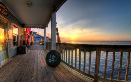 Картинки море, солнце, дом, life is good