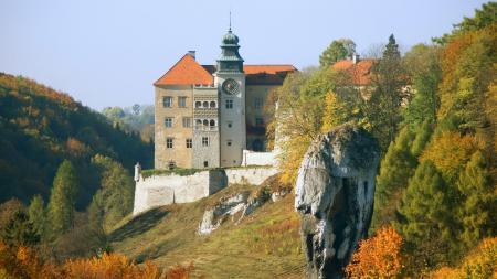 Фотографии замок, осень, дервья