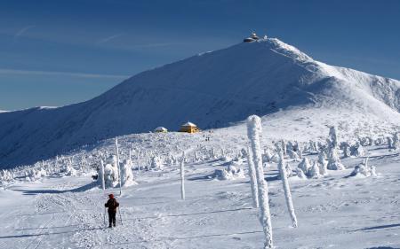 Фотографии горы, снег, человек