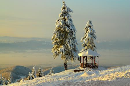Фото BelleVue, горы, небо, снег