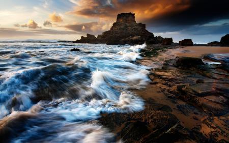 Фото пейзажи, камни, море, вода