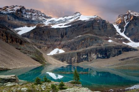 Обои Пейзаж, горы, снег, вода