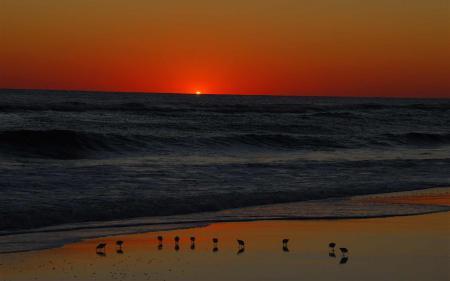 Картинки закат, солнце, море, волны
