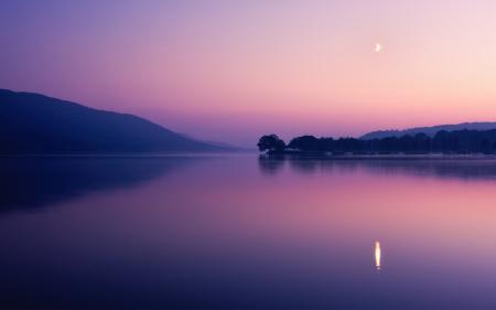 Фотографии закат, озеро, туман