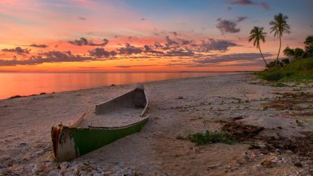 Фото пляж, флорида, закат