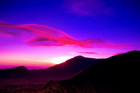 Заставки рассвет, небо, облака, горы