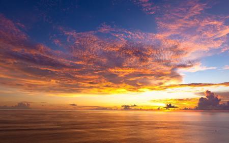 Фотографии Indonesia, океан, закат, Индонезия