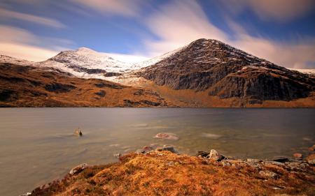 Заставки река, горы, небо, природа