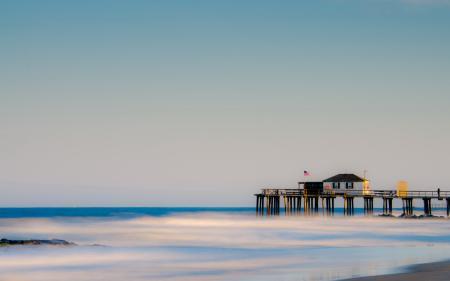 Фото море, мост, небо, пейзаж