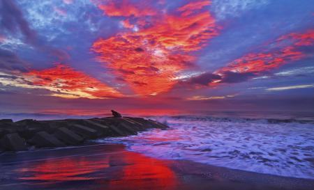 Картинки пляж, море, волны, тучи