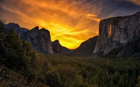 Заставки Yosemite National Park, California, горы, пейзаж