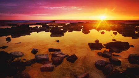 Заставки небо, море, закат, солнце
