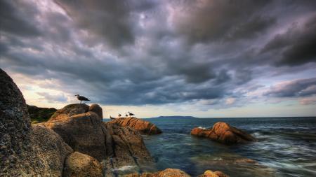 Фото Море, бухта, вода, камни