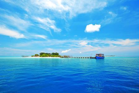 Заставки Мальдивы, море, волны, остров