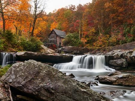 Заставки Glade Creek Grist Mill, Babcock State Park, West Virginia, New River
