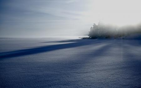 Обои утро, зима, озеро, пейзаж