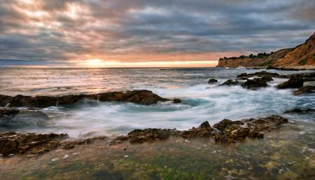 Фотографии море, берег, камни, закат