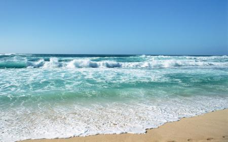 Заставки морской, прибой, волны, песок