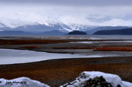 Фотографии горы, озеро, зима, пляж